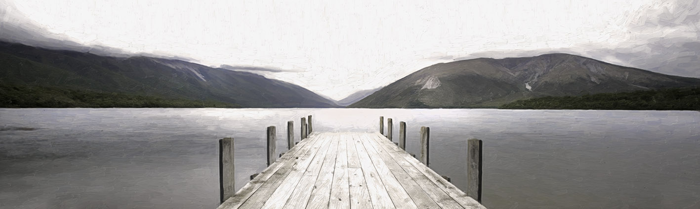 ST-ISL Lake Rotoiti Nelson Lakes (digital painting)