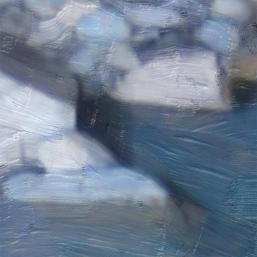 NAT 2016-18 Shotover River 1 (digital painting) - detail