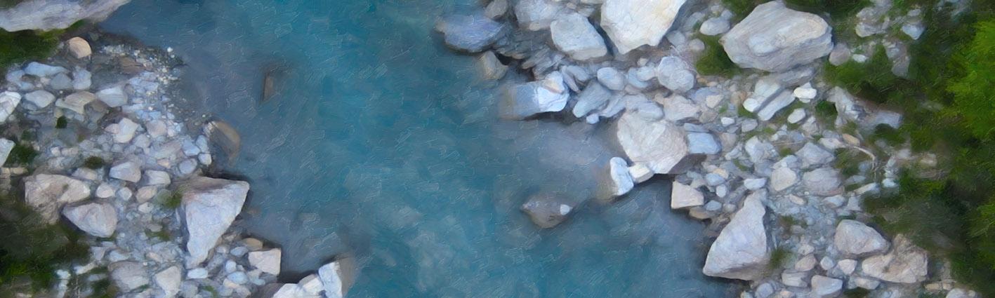 NAT 2016-18 Shotover River 2 (digital painting)