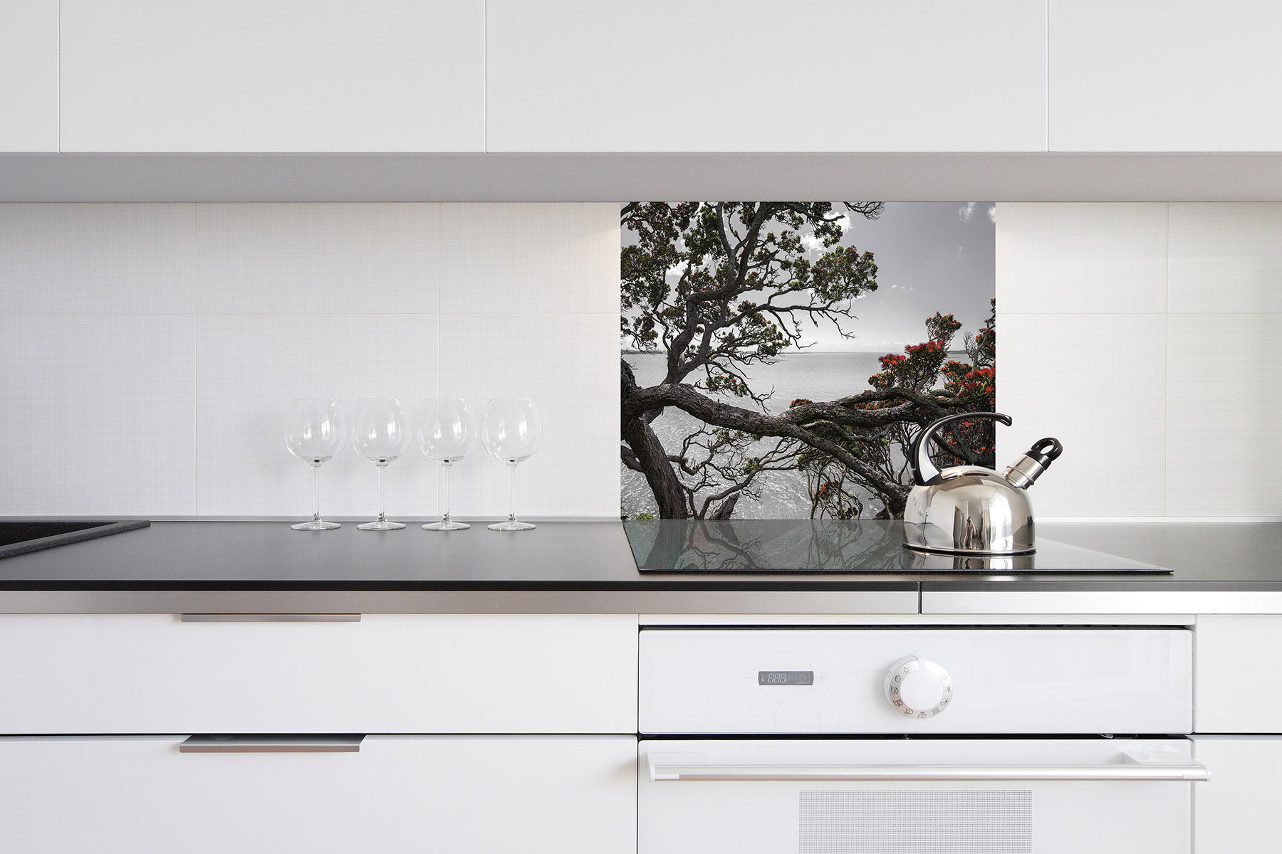 Eternal Home (no blue version) shown in the 900x750mm size DIY splashback.