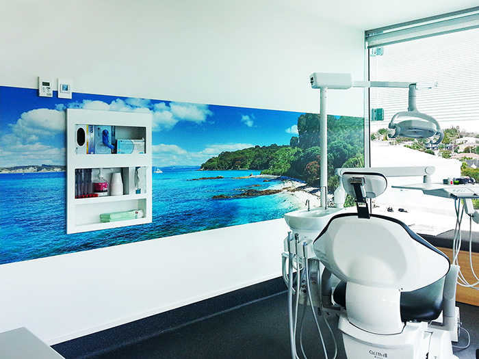 DENTIST FITOUT - wallpaper murals - - 4  x 1m- Price range - $999 - $1099 - depends on complexity and location.- There were 16 surgeries in this dentist fitout, all having different wallpaper panoramas to create a wonderful sense of calm in the clinics and create visual interest for the patients.