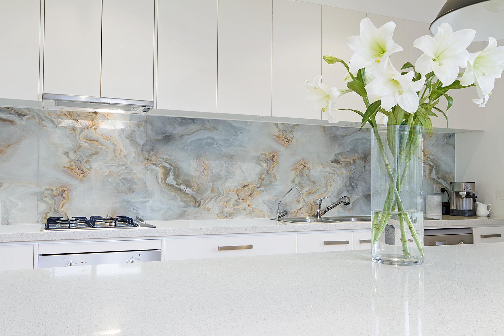 ARCH 2019-1a Marble Gold Vein glass splashback