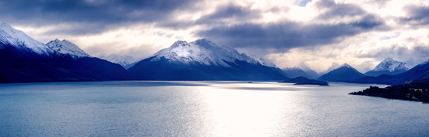 COR-9 Wakatipu, head of the lake (colour)