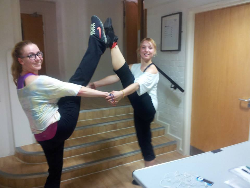 Kasia (Zumba instructor) and Justyna (movement director)!