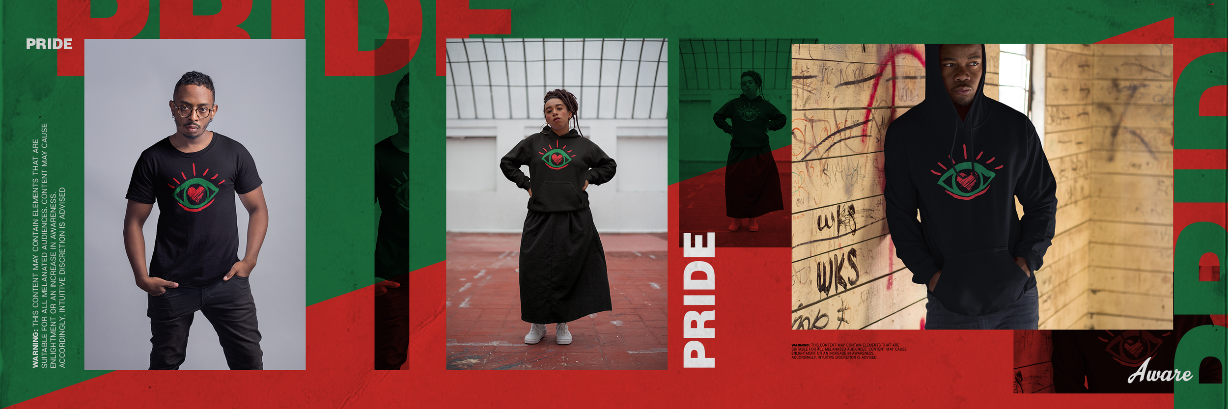 Pride Collection - Released in February, this fresh take on the cultural Red, Black, and Green featured the signature eye logo as the focal point in this collection.