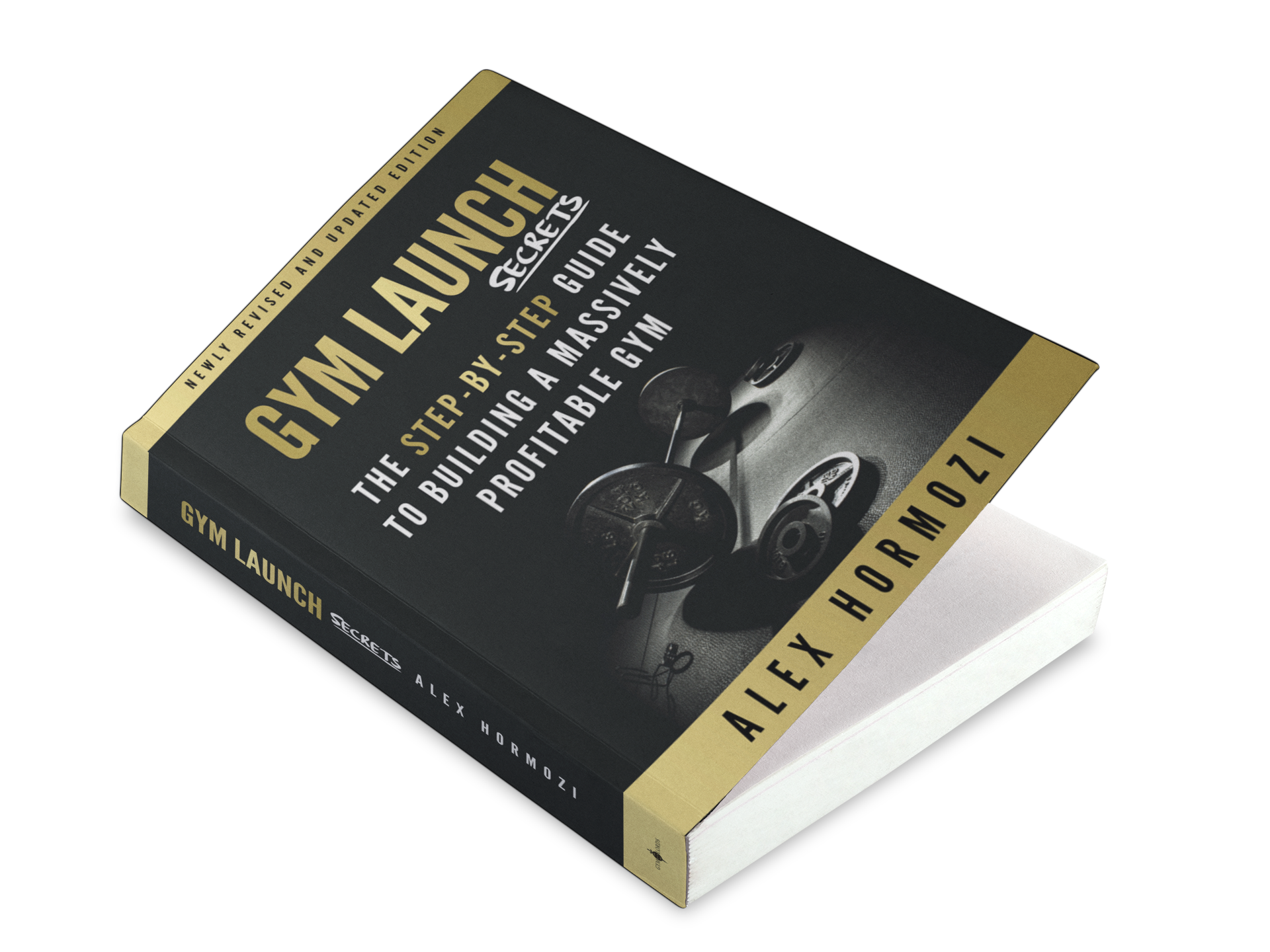 Gym Launch Secrets Book - When Alex Hormozi decided to release is first book, he wanted a cover that was bold and strong as him. I kept the cover design on brand by incorporating the signature black and gold palette. Once the book was done, I designed a series of Facebook ads that were sure to capture attention and drive sales.