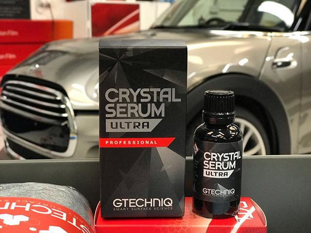 Brand new car prepared and ready to receive the very best paintwork protection available... Crystal Serum Ultra boasts 10h hardness, temperature resistance from -40 - +250 degrees, chemical resistance from ph2 - ph13 and a manufacturer backed warranty of 9 years.  #gtechniqaccredited #gtechniq #gtechniquk #newcar #carcare #perfectcarcare #ppf #detailing #detailingderbyshire #derbyshire