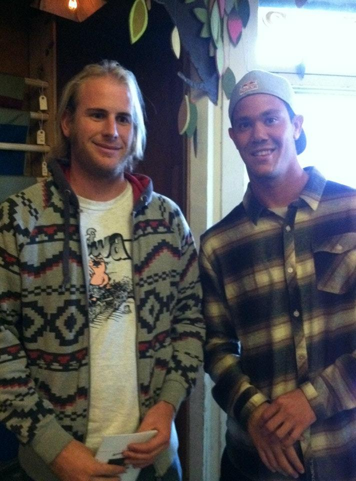 Ward with Jordy Smith