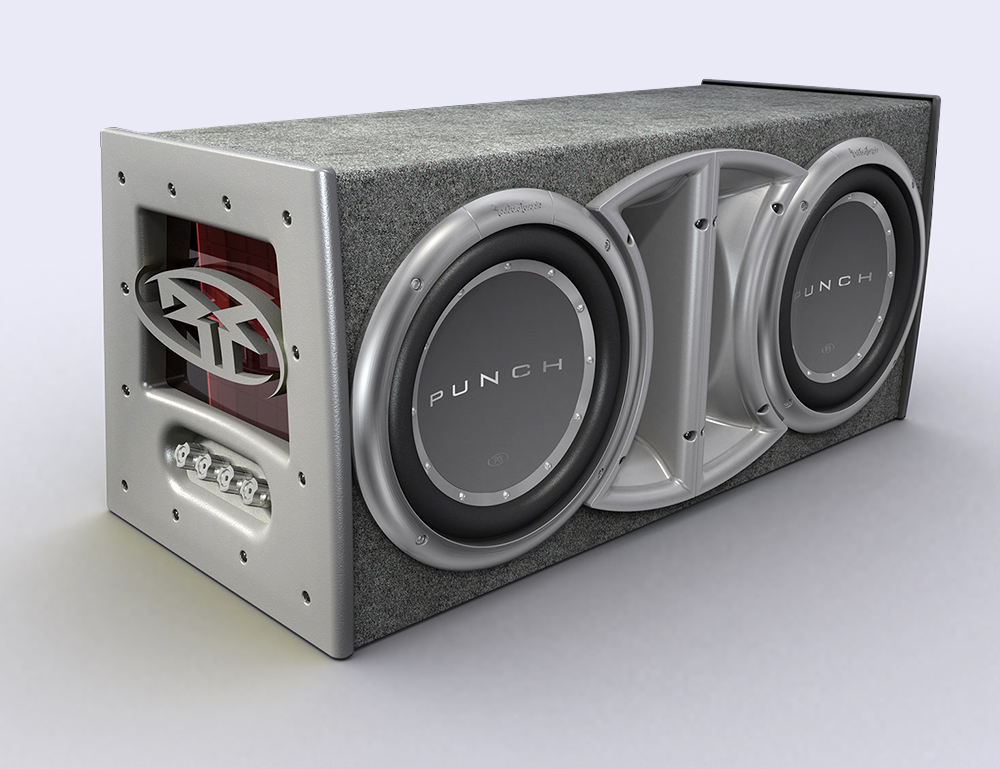 Rockford Fosgate : P3 Woofer Box dual