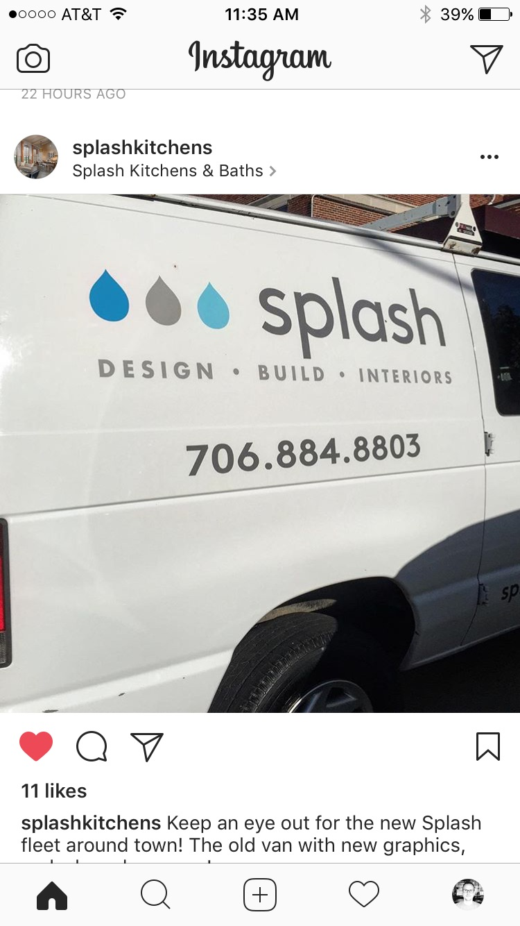 Seeing your work on the side of a van never gets old. -
