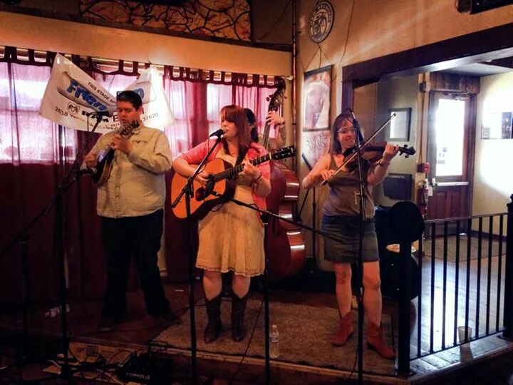 Our BRRR Sunday set at Machiavelli's: L to R John, Anna, Dakota, & Lyndsay Pruett.