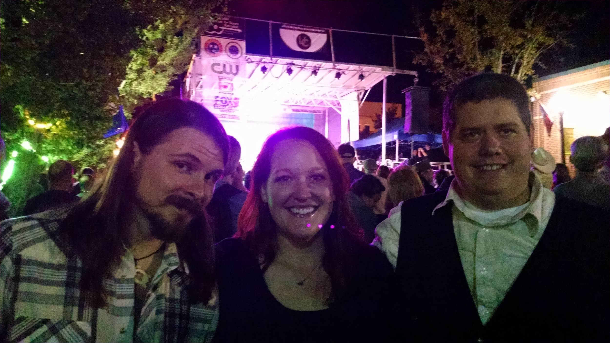 We caught Sturgill Simpson's Friday night set. Hot damn!  L to R: Dakota, Anna, & John.
