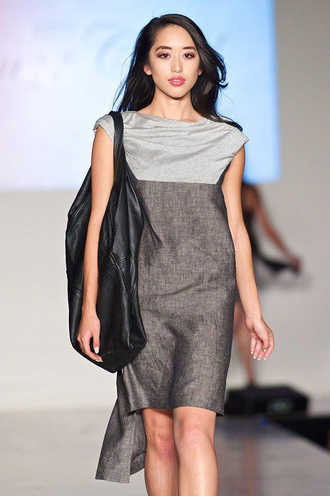 Maison Castel's Linen Dress with Ante London's Transform Bag