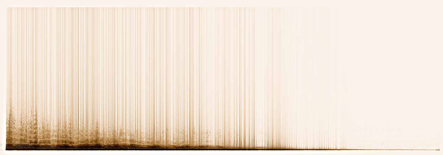 spectrogram of the dying note of the foghorn  ©Autogena & Portway 2013