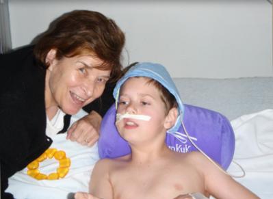 "Robbie with ""Oma"" - Tanja's mother Sonja Wilks"