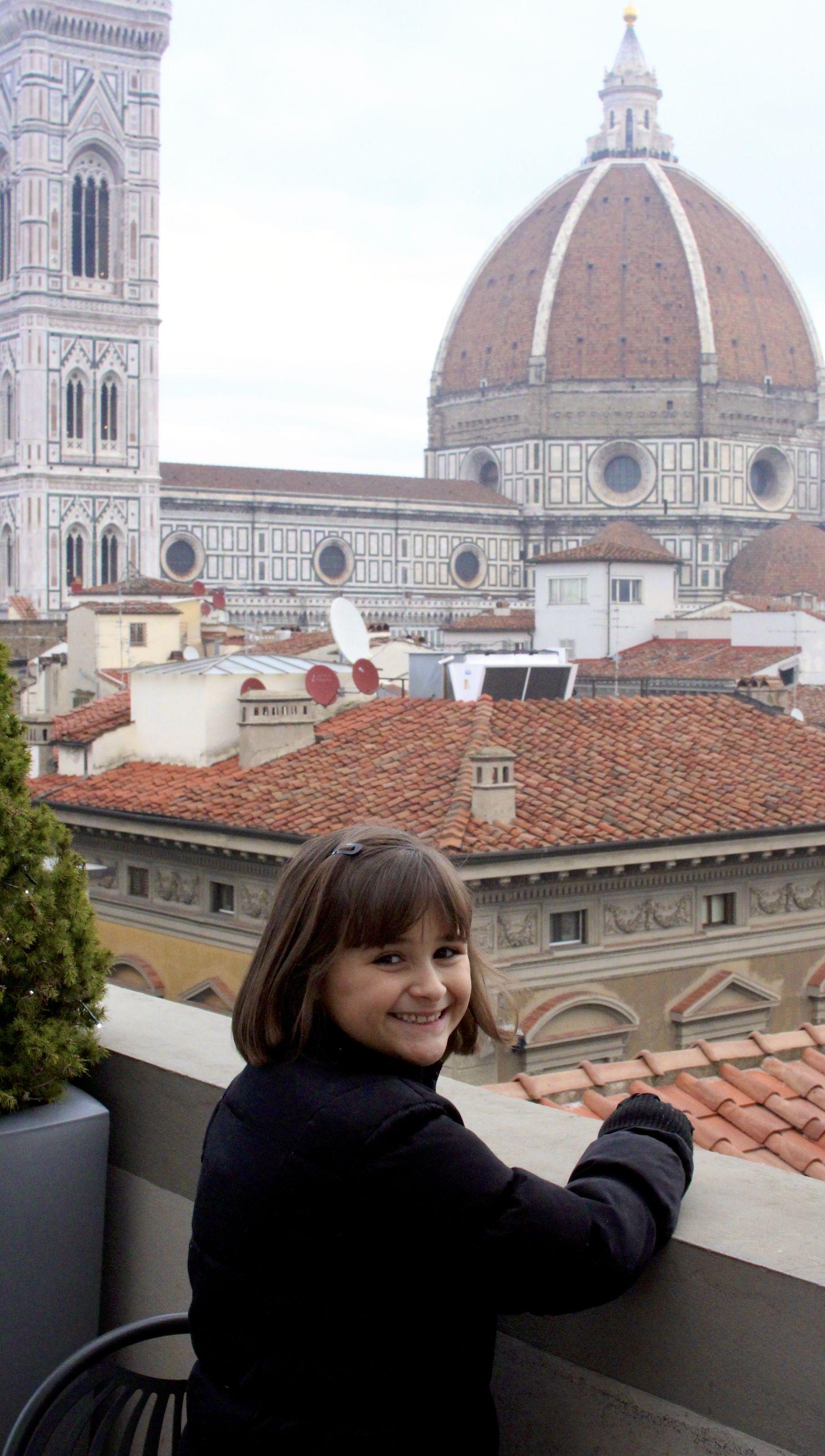 Jillian Enjoying the Duomo