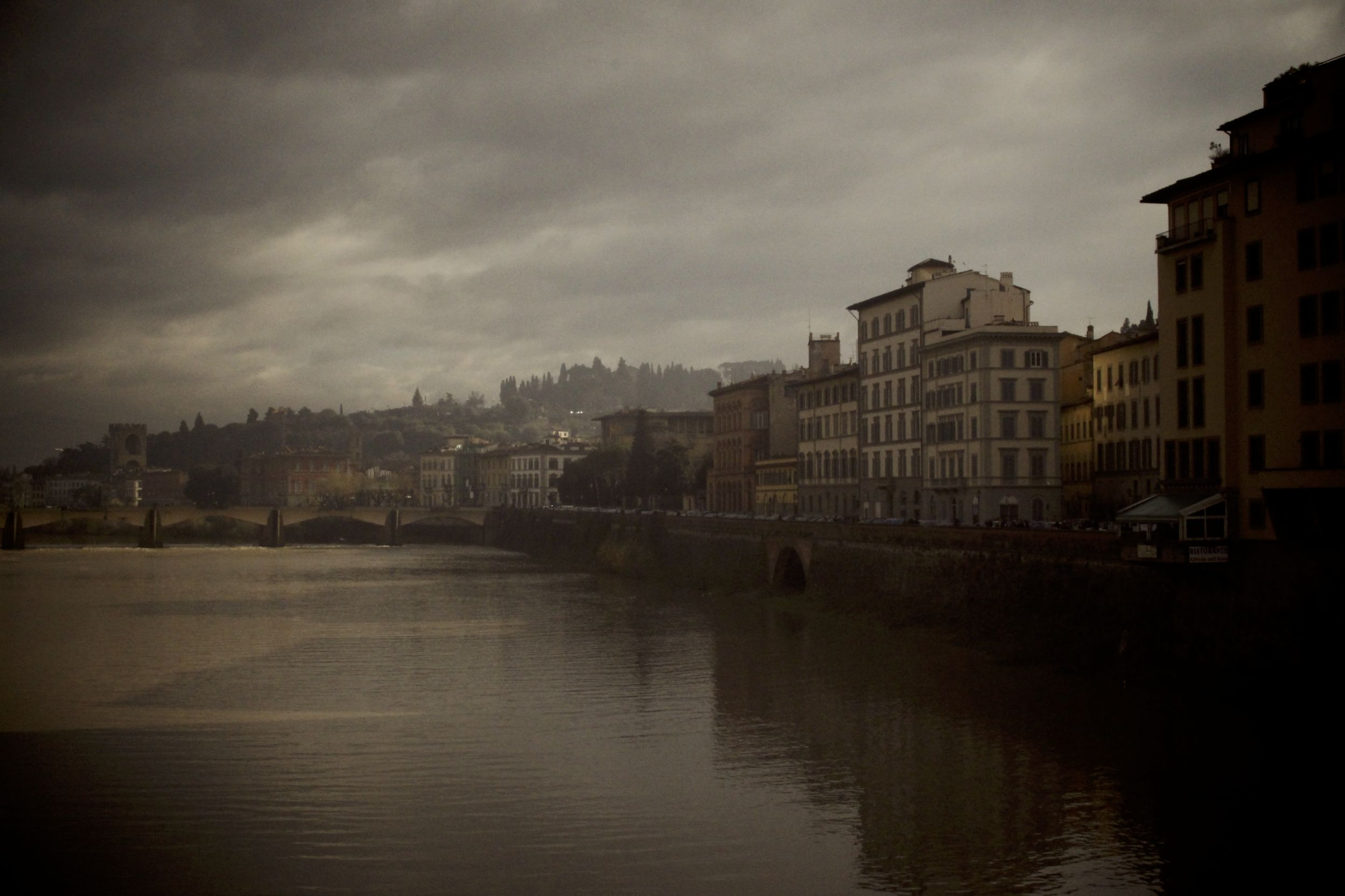 View from the Ponte Vecchio of Firenze