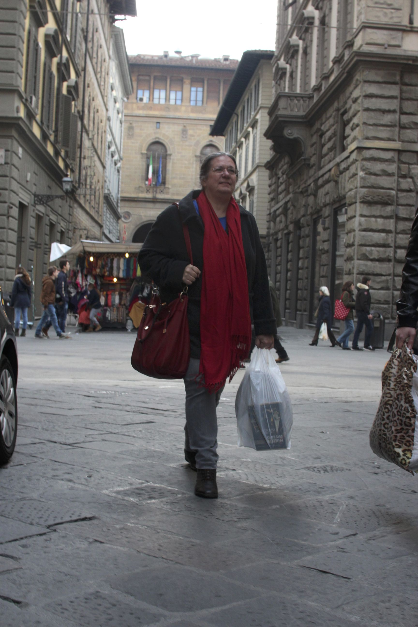 Lucy on the streets of Florence
