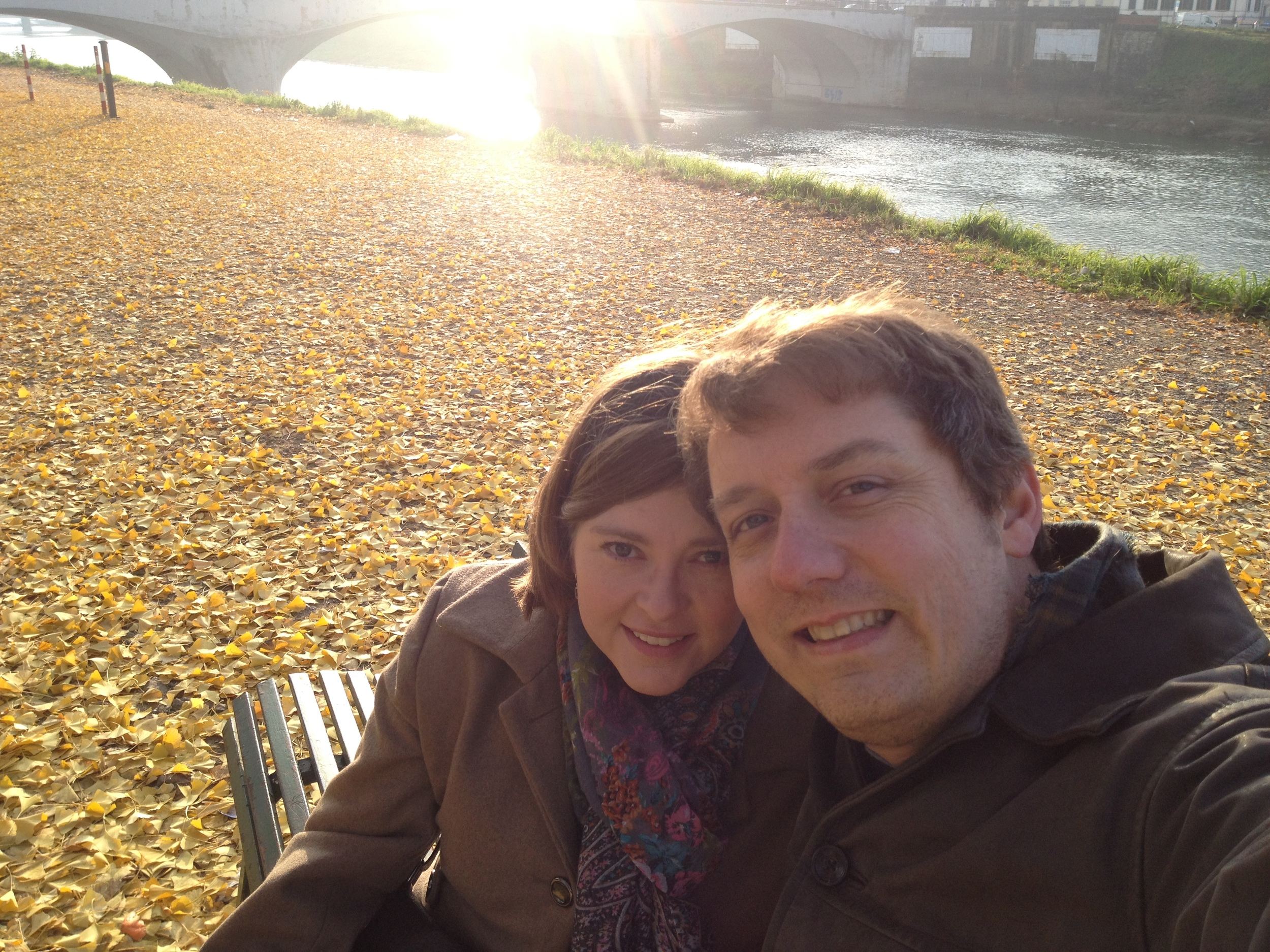 Relaxing by the Arno River