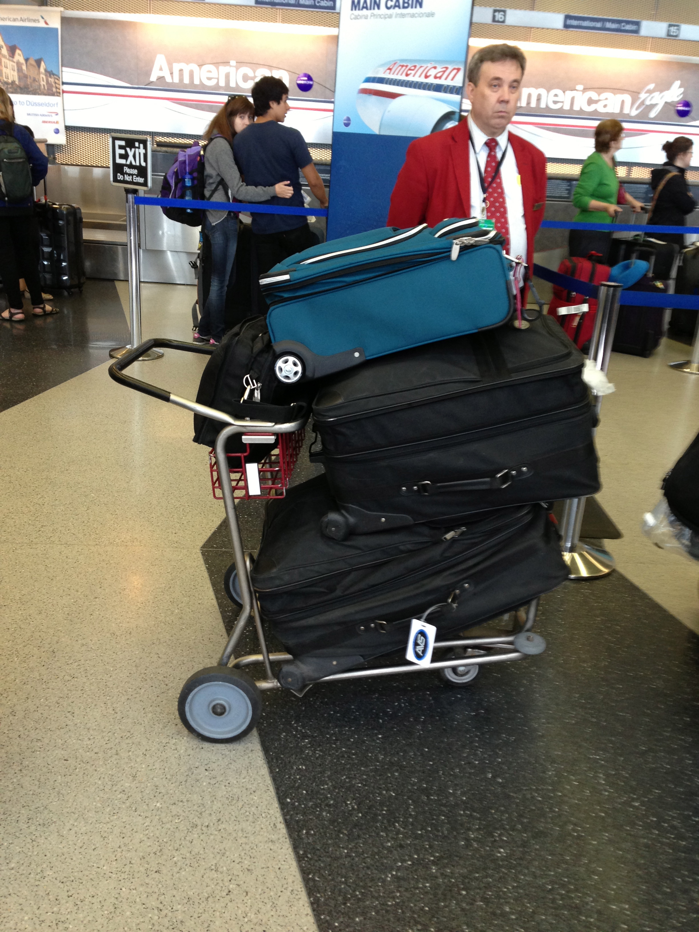 All my baggage. None of them were overweight, no extra charges!! Awwww yeah!!!!