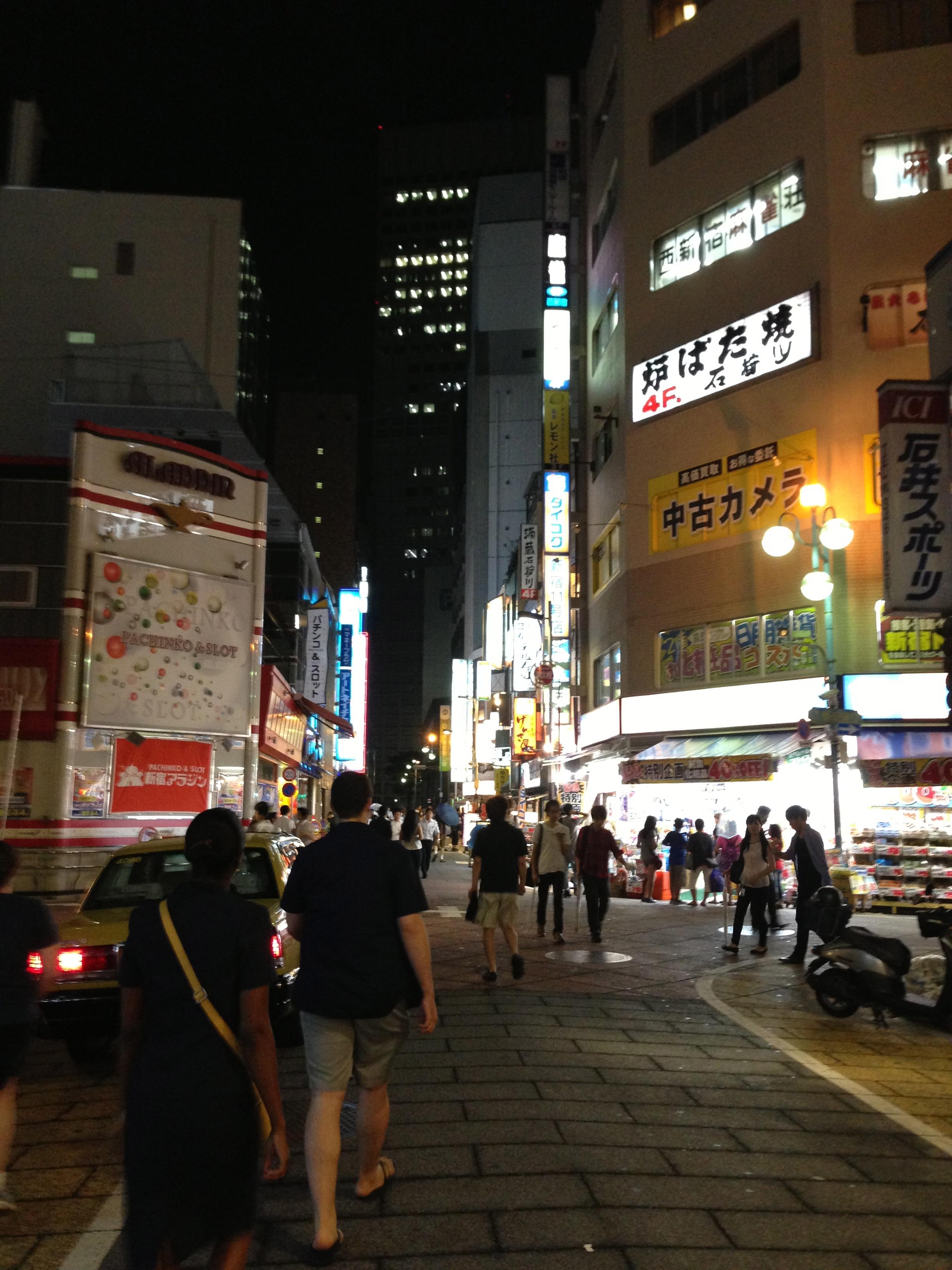 Hittin' the Tokyo streets in Shuinjuku