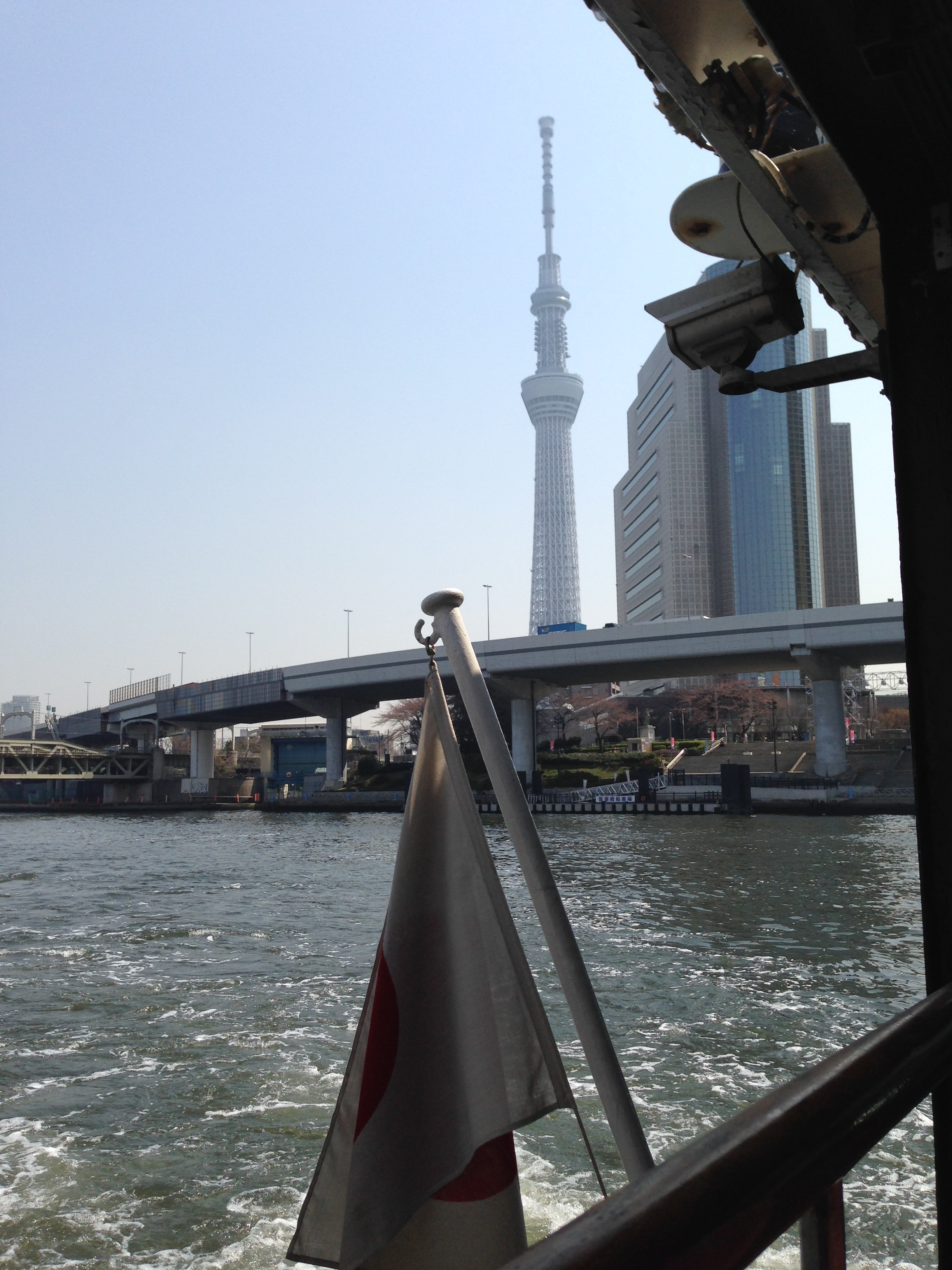 """Tokyo Skytree from our """"water bus"""""""