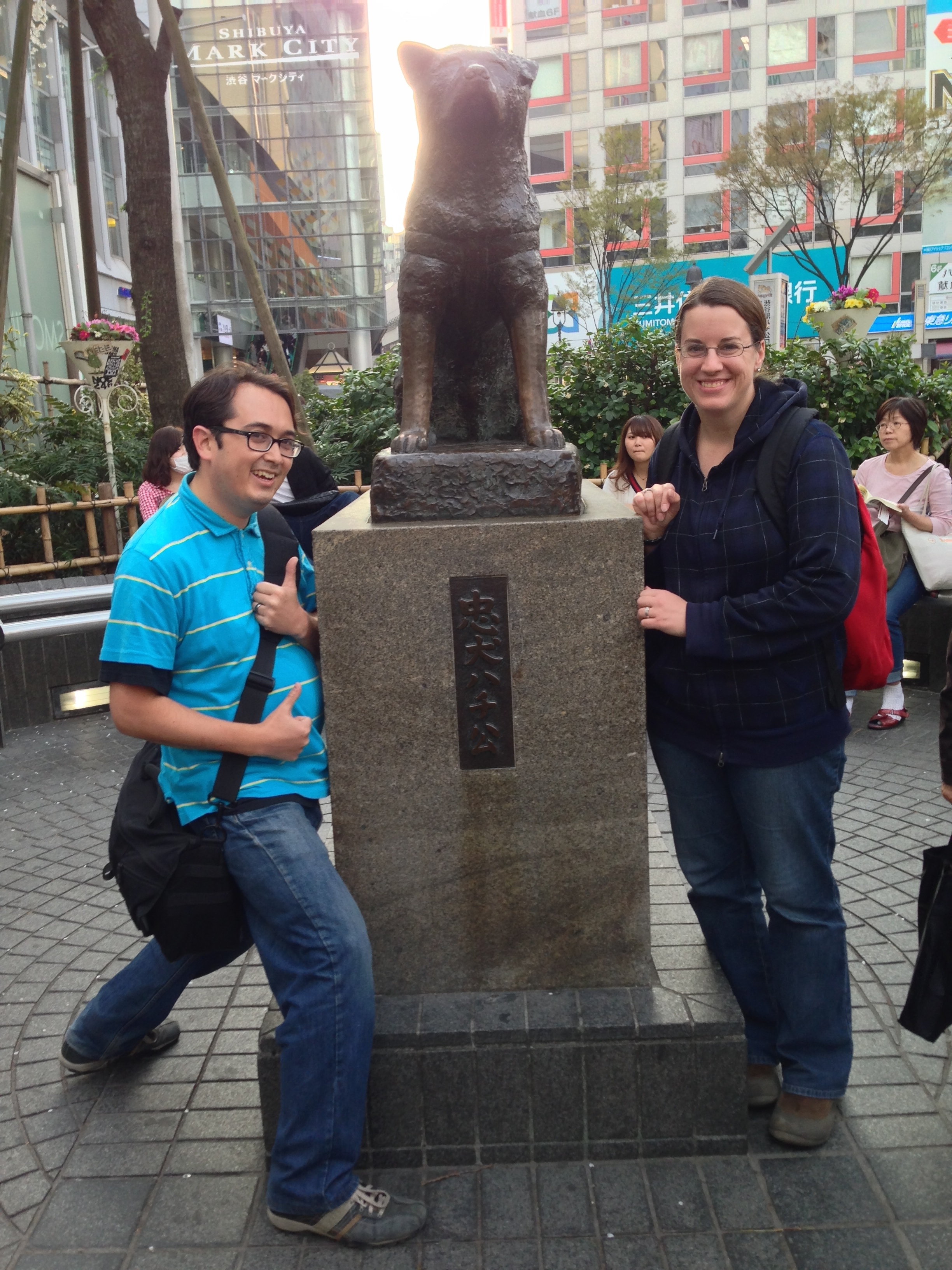 Hachiko waits for his master