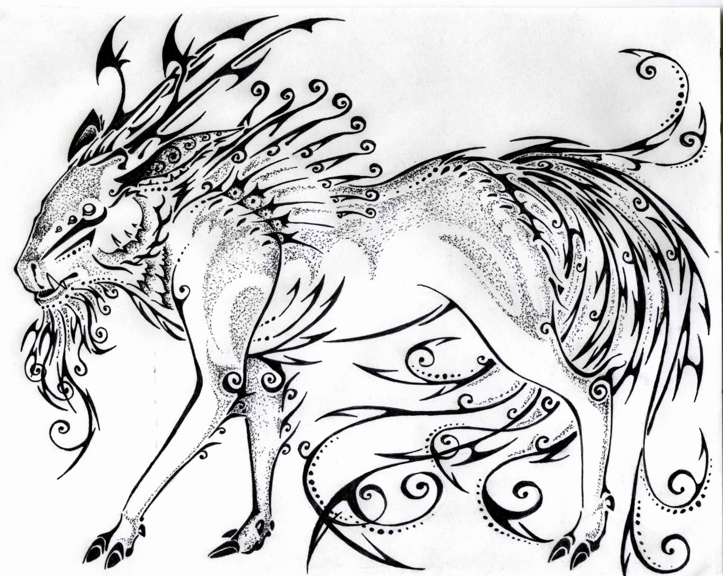 Calligraphy Kirin