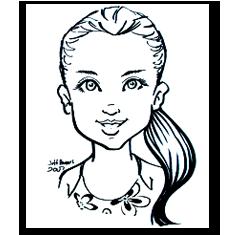 Basic B&W caricature portrait by jeffrey d. harris