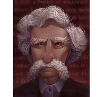 Elaborate caricature portrait by jeffrey d. harris