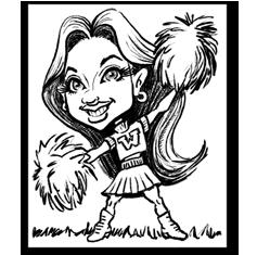 Activities caricature portrait by Jeffrey D. Harris