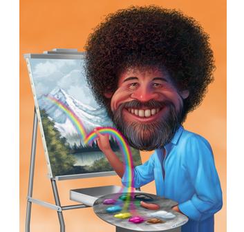 Caricature portraits by Jeffrey Harris