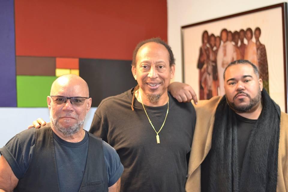 "Gumbi, Dr LoHertz and grammy award winning producer, Eric ""Rook"" Ortiz of J.U.S.T.I.C.E. League"