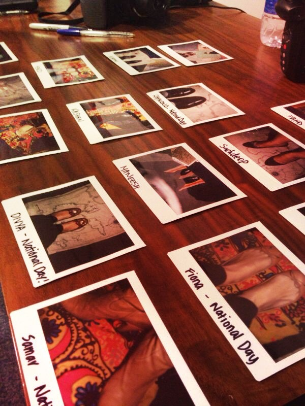 National Day at PepsiCo | the staff snapped their shoes with a polaroid and shared their stories.