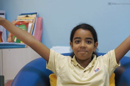 One + One - Nardine tells us how she feels about the children she met during the project.