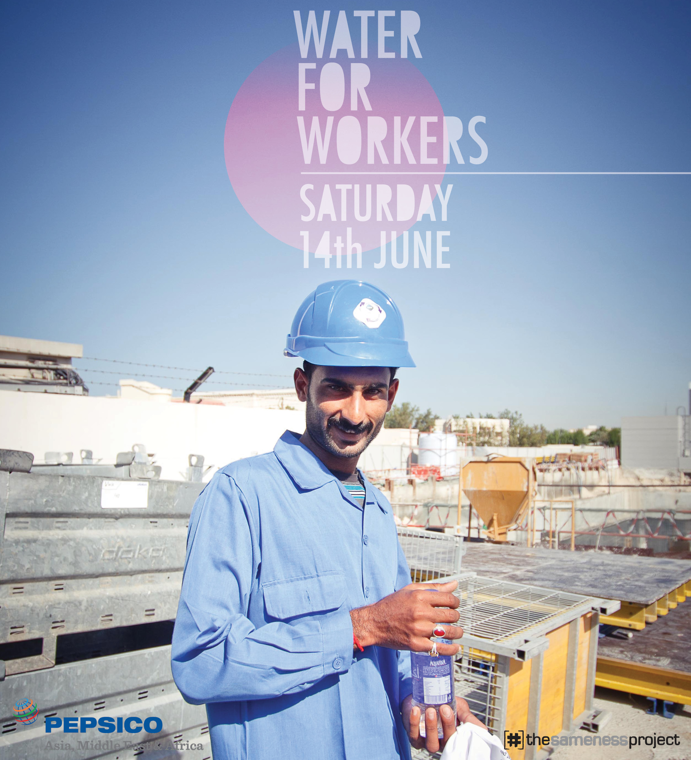 Water for Workers - Saturday 14th June! Get excited as this guy!