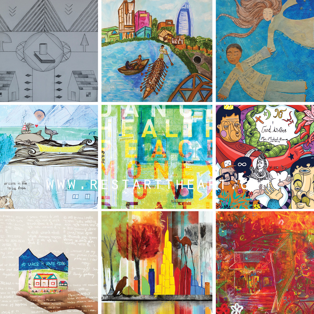 Just a small sample of the worker/artist collaborations. There are 43 in total!