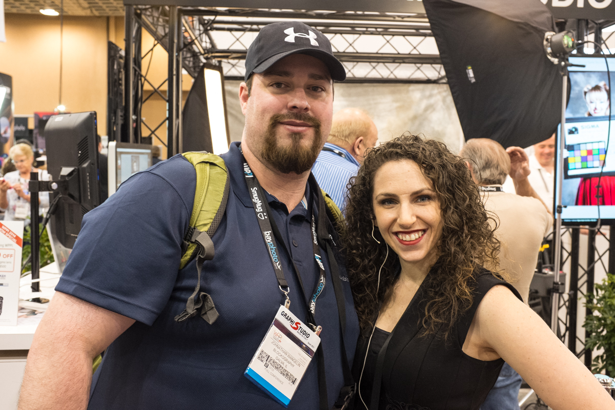 Me with Lindsay Adler at the Sigma booth.