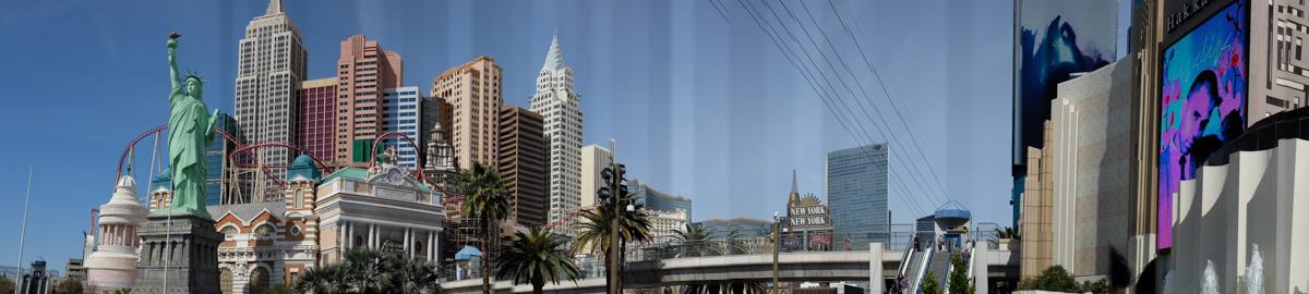 Panorama shot on the strip.