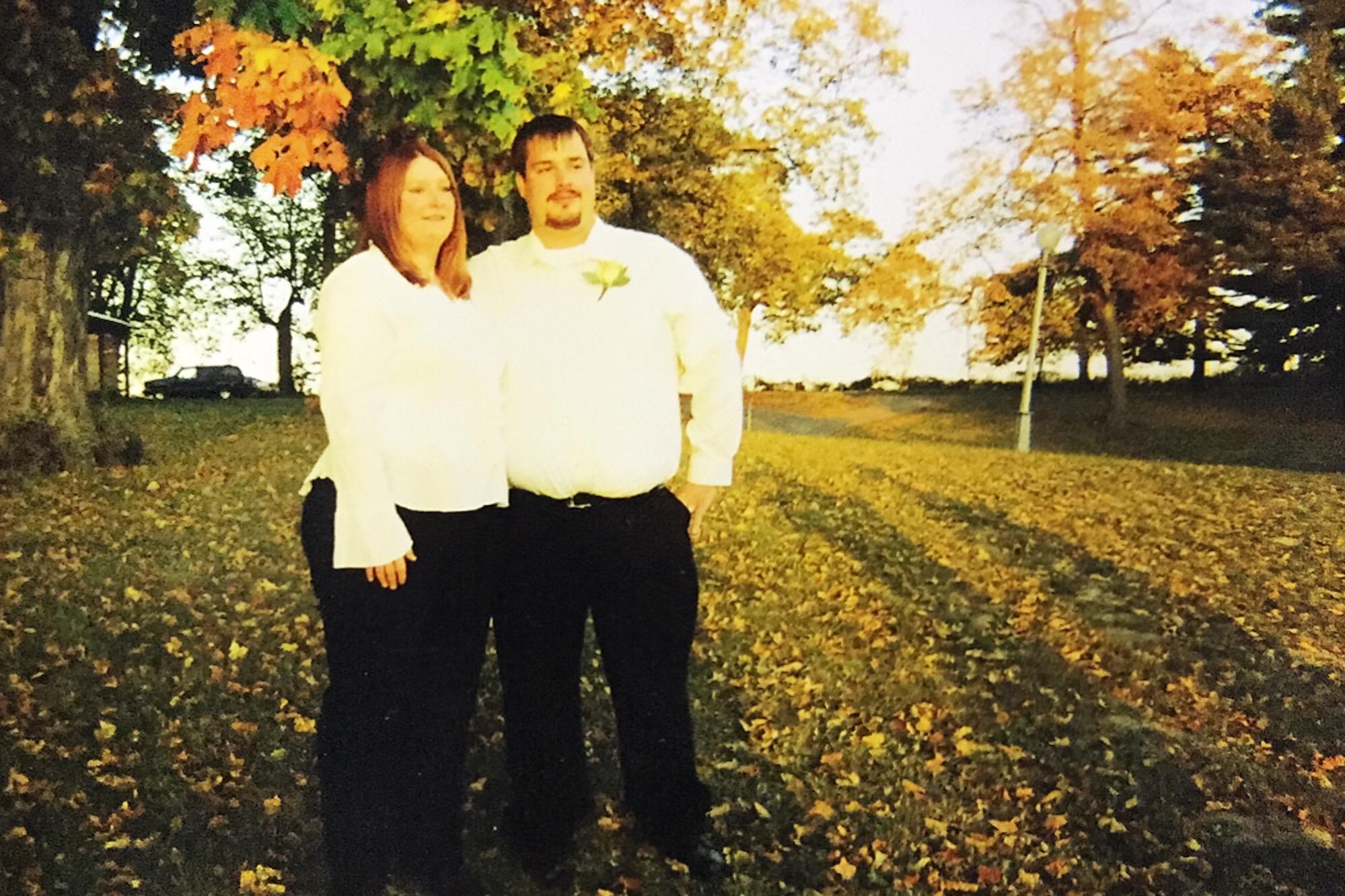 bride groom fall