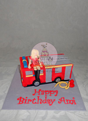 Party Fire Engine Cake