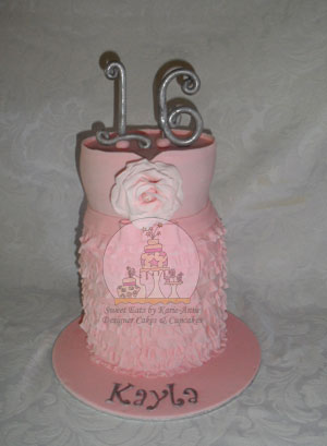 Pink Party Ruffle Cake