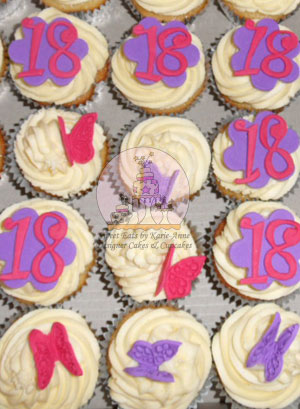 18th Butterfly Cupcakes