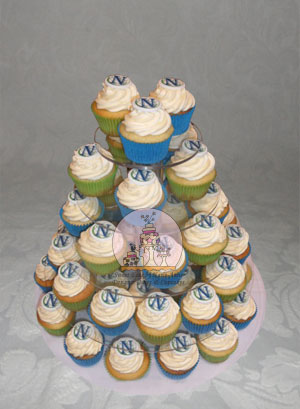 North Volleyball Cupcakes