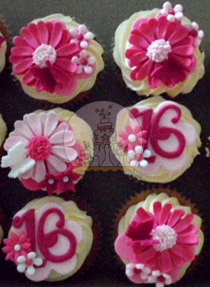 Pretty Pink Gerber Cupcakes