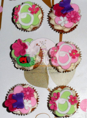 Butterfly and Ladybug Cupcakes