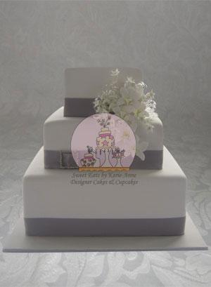 Singapore Orchid Wedding Cake 2