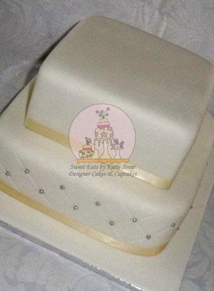 Diamond Print Wedding Cake