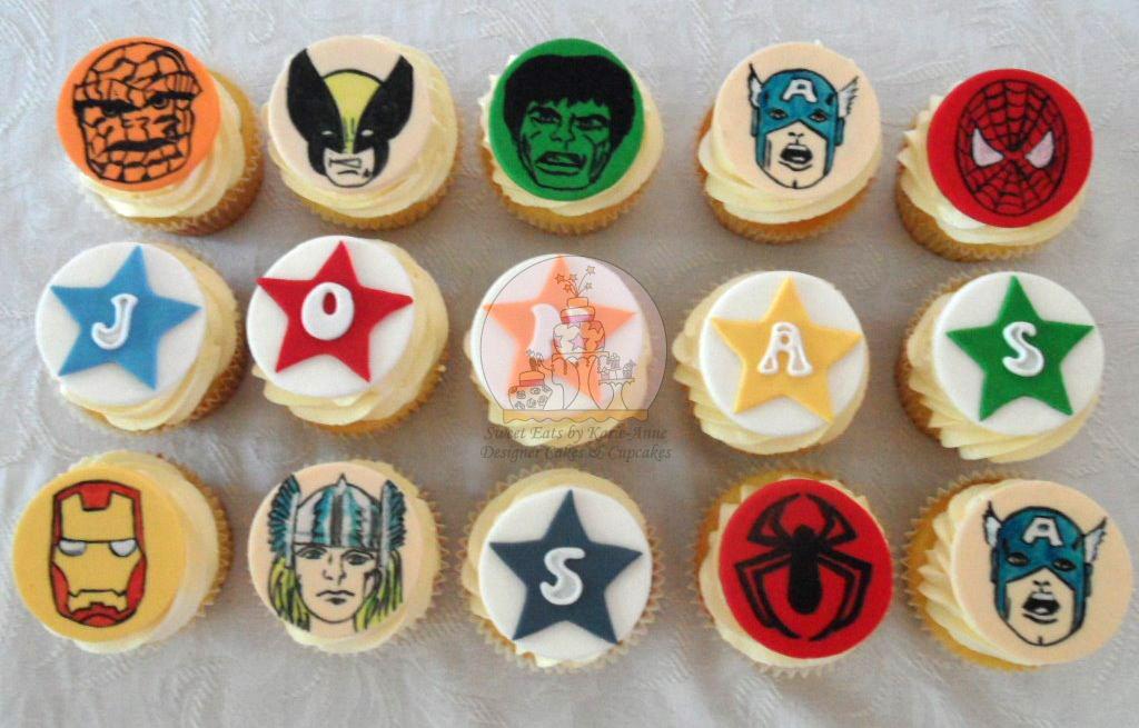 Retro Superhero Cupcakes