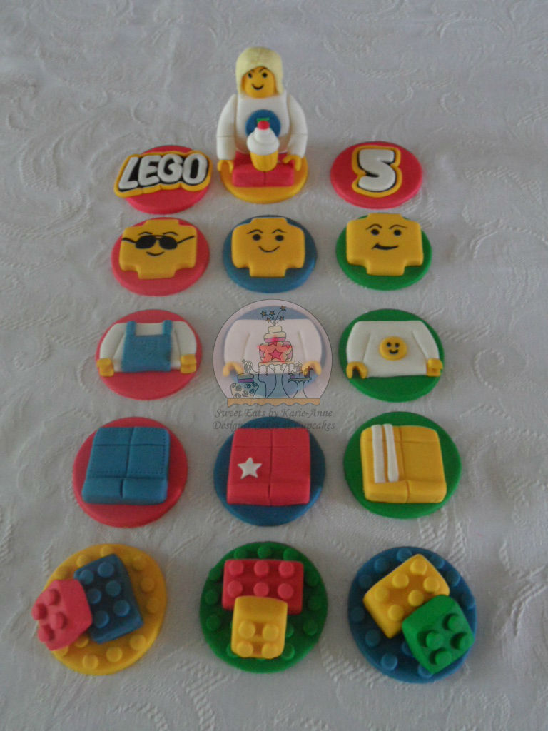 Lego Themed Cupcake Toppers